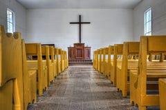 Interior de la iglesia del país Fotografía de archivo libre de regalías