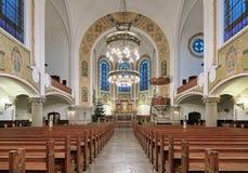 Interior de la iglesia del ` s de St John en Malmö, Suecia Imagen de archivo libre de regalías