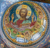 Interior de la iglesia del salvador en sangre derramada en Petersb Imágenes de archivo libres de regalías