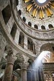 Interior de la iglesia del sepulcro santo Fotos de archivo libres de regalías