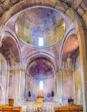 Interior de la iglesia en el monasterio de Goshavank Fotos de archivo
