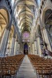 Interior de la iglesia en Francia imágenes de archivo libres de regalías
