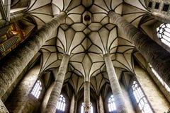Interior de la iglesia en Salzburg fotografía de archivo