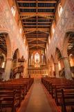 Interior de la iglesia neogótica protestante de St Lorenza Foto de archivo