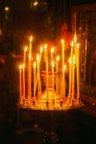 Interior de la iglesia ortodoxa rusa. Fotografía de archivo libre de regalías
