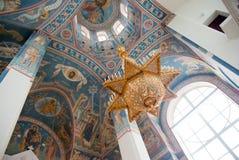 Interior de la iglesia ortodoxa rusa. Fotos de archivo