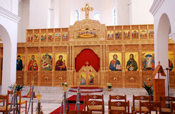 Interior de la iglesia ortodoxa. Fotos de archivo libres de regalías