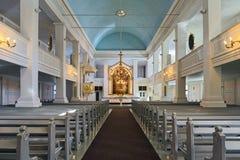 Interior de la iglesia vieja de Helsinki, Finlandia foto de archivo libre de regalías