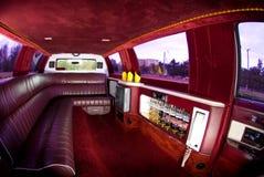 Interior de la limusina imagen de archivo libre de regalías