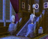 Interior de la mansión fantasmagórica. ilustración del vector