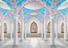 Interior de la mezquita Imágenes de archivo libres de regalías
