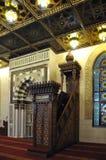 Interior de la mezquita Fotos de archivo