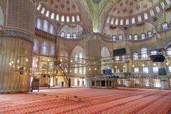 Interior de la mezquita azul Foto de archivo