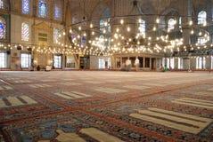 Interior de la mezquita azul Imagen de archivo