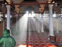 Interior de la mezquita - columnas imagen de archivo