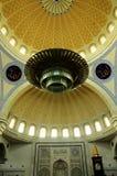 Interior de la mezquita a del territorio federal K un Masjid Wilayah Persekutuan Fotografía de archivo libre de regalías