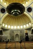 Interior de la mezquita a del territorio federal K un Masjid Wilayah Persekutuan Imágenes de archivo libres de regalías