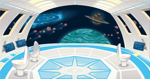 Interior de la nave espacial. stock de ilustración