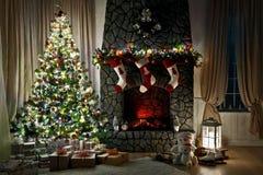 Interior de la Navidad Imágenes de archivo libres de regalías