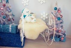Interior de la Navidad Fotografía de archivo libre de regalías