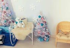 Interior de la Navidad Imagenes de archivo