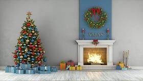 Interior de la Navidad stock de ilustración