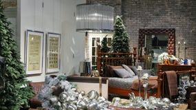 Interior de la Navidad en la alameda luxuty de Dubai Imagenes de archivo