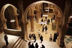 Interior de la noche de Hospital de Sant Pau Foto de archivo libre de regalías
