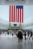 Interior de la nueva estación de la TRAYECTORIA del World Trade Center de Oculus imagen de archivo