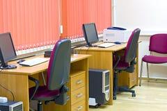 Interior de la oficina con dos trabajos Foto de archivo libre de regalías