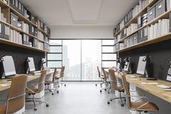Interior de la oficina de New York City stock de ilustración