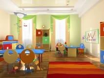 Interior de la oficina del bebé ilustración del vector