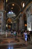 Interior de la opinión de Vaticano Imágenes de archivo libres de regalías