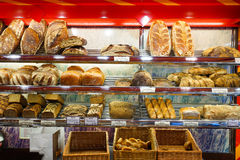 Interior de la panadería Imagen de archivo