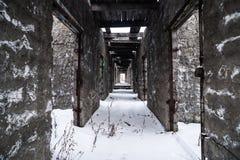 Interior de la prisión abandonada Foto de archivo libre de regalías