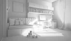 Interior de la representación de la habitación del niño 3D Foto de archivo