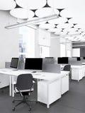 Interior de la representación moderna de la oficina Imágenes de archivo libres de regalías