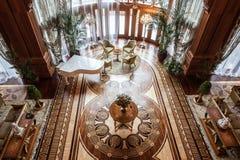 Interior de la residencia de Mezhyhirya Imagen de archivo