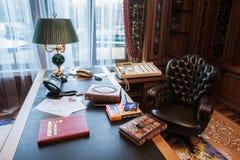 Interior de la residencia de Mezhyhirya Foto de archivo