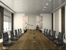 Interior de la sala de conferencias Imagen de archivo libre de regalías