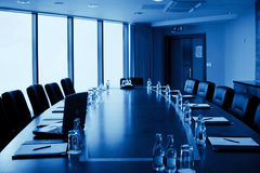 Interior de la sala de conferencias, monocromático Fotografía de archivo