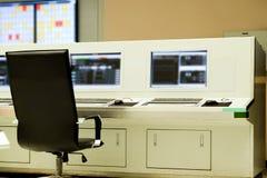 Interior de la sala de control central Fotografía de archivo libre de regalías