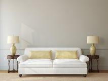 Interior de la sala de estar. stock de ilustración