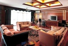 Interior de la sala de estar Foto de archivo libre de regalías