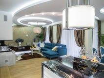 Interior de la sala de estar del apartamento Imágenes de archivo libres de regalías