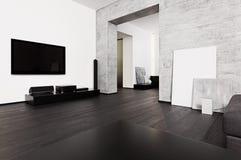 Interior de la sala del estilo del Minimalism foto de archivo libre de regalías