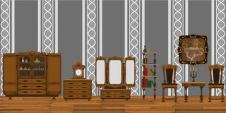 Interior de la sala de estar ilustración del vector