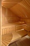Interior de la sauna Foto de archivo libre de regalías