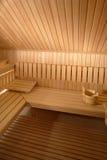 Interior de la sauna Fotos de archivo libres de regalías