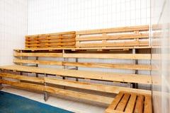 Interior de la sauna foto de archivo